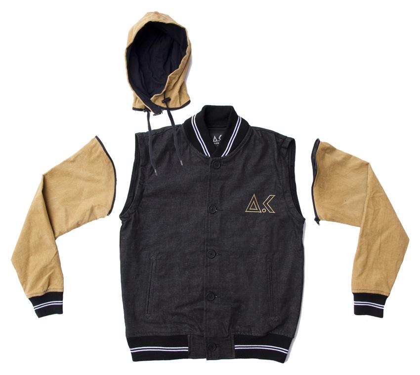 Stylewise Akomplice Corduroy Denim Varsity Jacket Direkt Concept